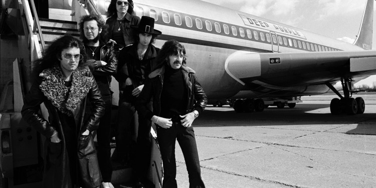 Photo of DEEP PURPLE and Glenn HUGHES and Ian PAICE and Jon LORD and Ritchie BLACKMORE and David COVERDALE
