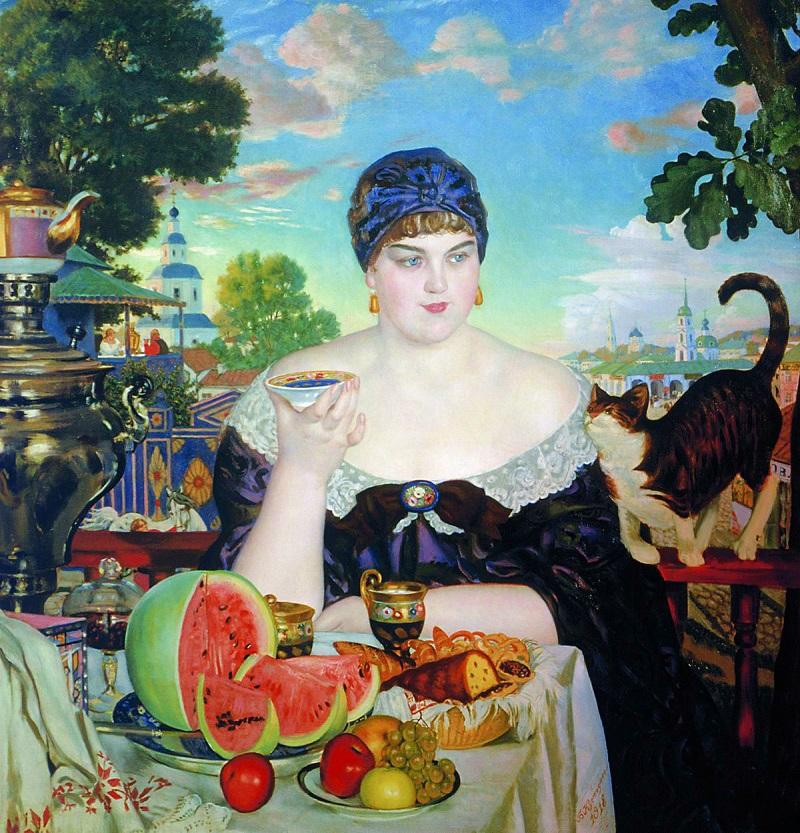 La moglie del mercante. Boris Kustodiev, 1918