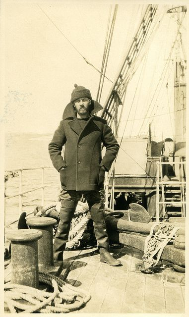 "Crew member W. F. Howard on board R.R.S ""Discovery"" 28th December 1930"