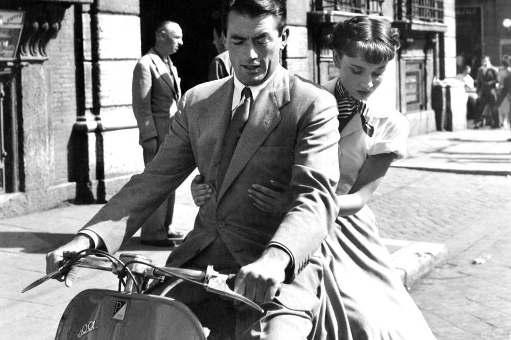 ROMAN HOLIDAY, Gregory Peck, Audrey Hepburn, 1953