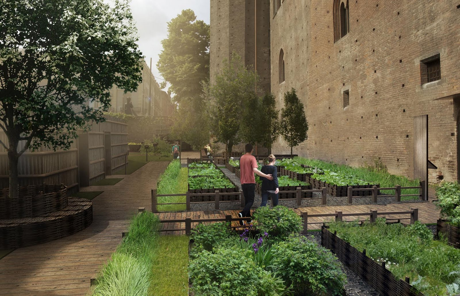 Il giardino di palazzo madama come nato il progetto - Progetto di un giardino ...