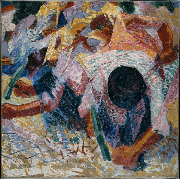 """The Street Pavers"" - Umberto Boccioni (1914)"