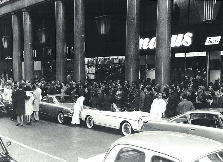 Nella foto l'inaugurazione della Marus di via Roma, il 13/5/1962
