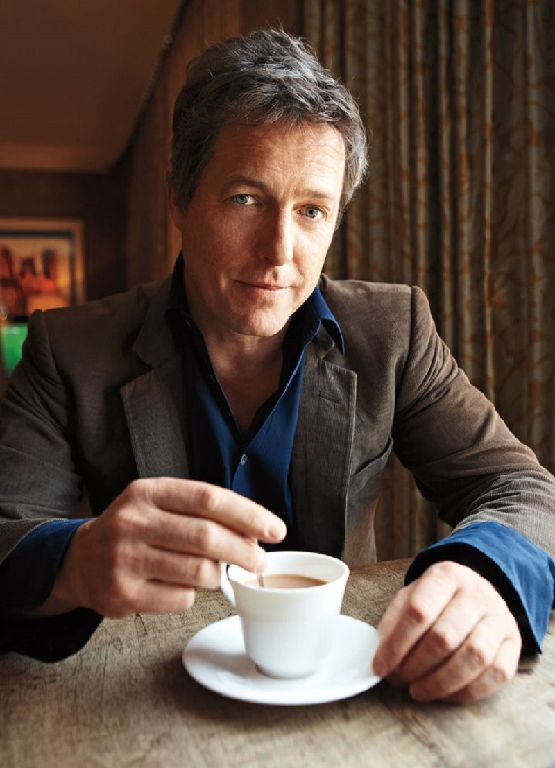 ***Final hi-res retouched file Actor Hugh Grant photographed in New York City at the Crosby Street Hotel. 4/21/12 Photographer: Jake Chessum Groomer: Sandy Linter Styling: Mr. Grant wears his own wardrobe, no wardobe credits