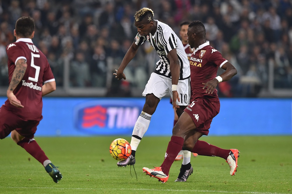 during the Serie A match between Juventus FC and Torino FC at Juventus Arena on October 31, 2015 in Turin, Italy.