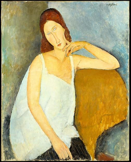 """""""Jeanne Hébuterne (1898–1920)"""" - Amedeo Modigliani (1919)"""