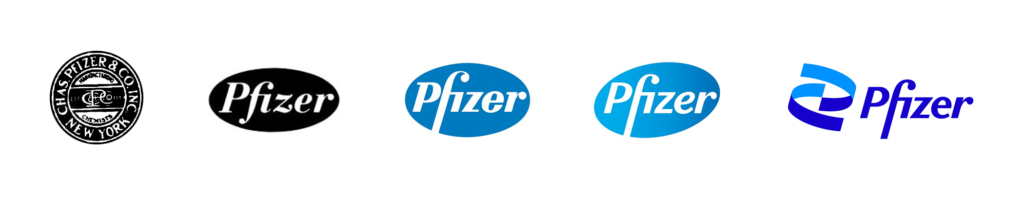 (Pfizer logo History)