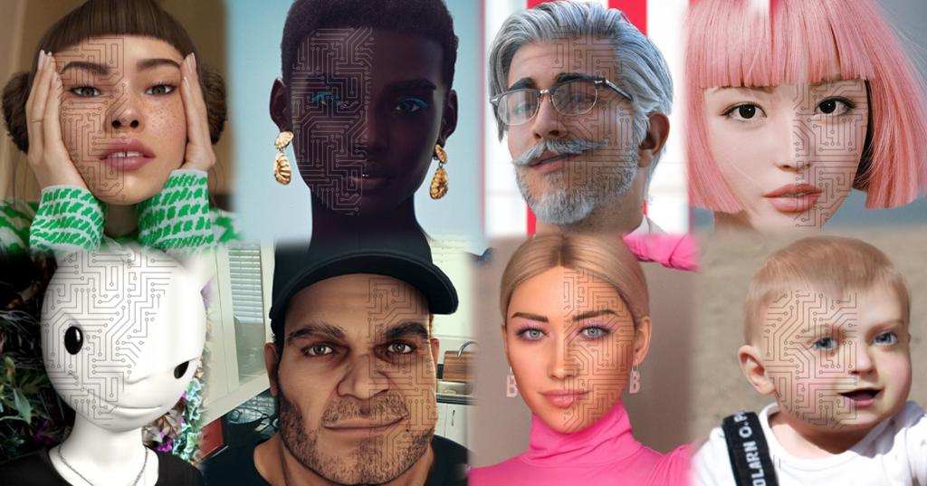 Avatar di vari Virtual Influencer
